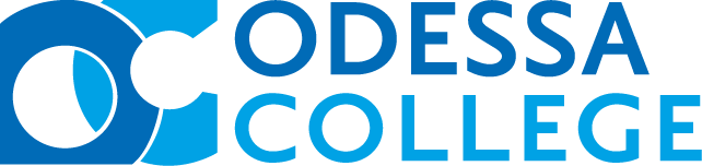 Logo for Odessa College, in two-tone blue font