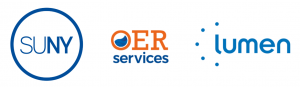 Logos for the State University of New York, SUNY OER Services, and Lumen Learning